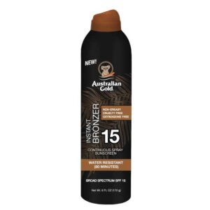 SPF 15 CONTINUOUS SPRAY SUNSCREEN WITH INSTANT BRONZER - Australian Gold